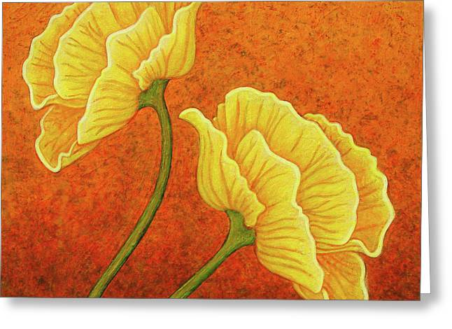 Greeting Card featuring the painting Sultry Sway by Amy E Fraser