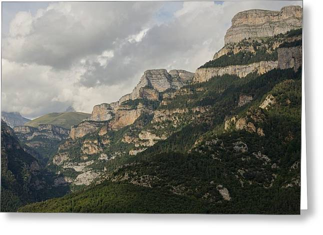 Greeting Card featuring the photograph Summer In The Anisclo Canyon by Stephen Taylor