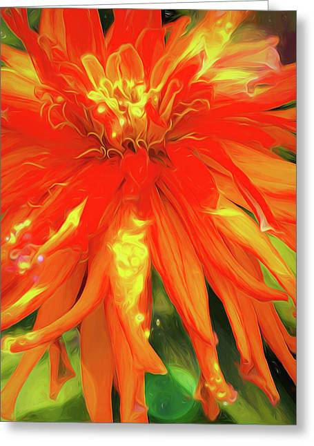 Greeting Card featuring the digital art Summer Joy by Cindy Greenstein