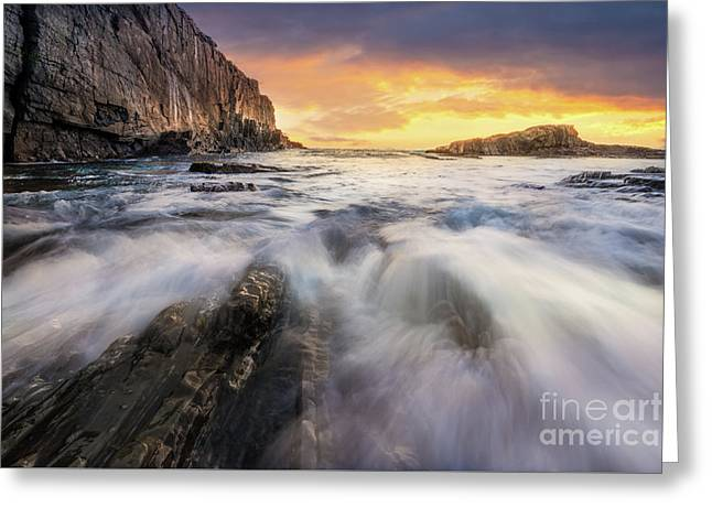 Summer Sunrise At Bald Head Cliff Greeting Card