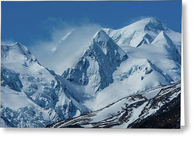 Summer Winds In Mount Cook National Park Greeting Card