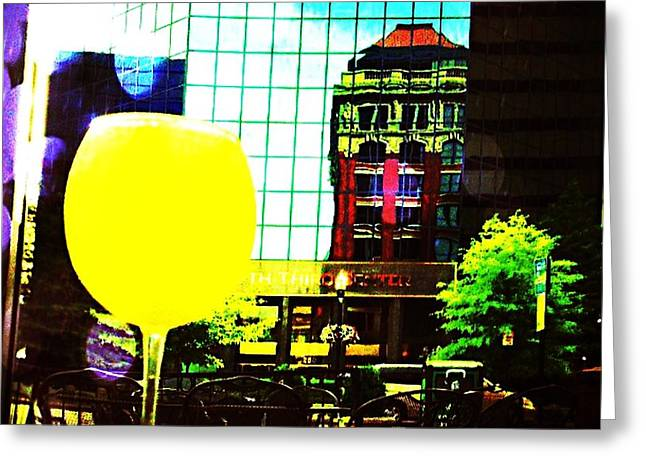 Greeting Card featuring the mixed media Summertime Downtown Lexington  by Rachel Maynard