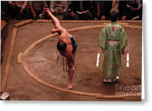 Sumo Stretch Greeting Card