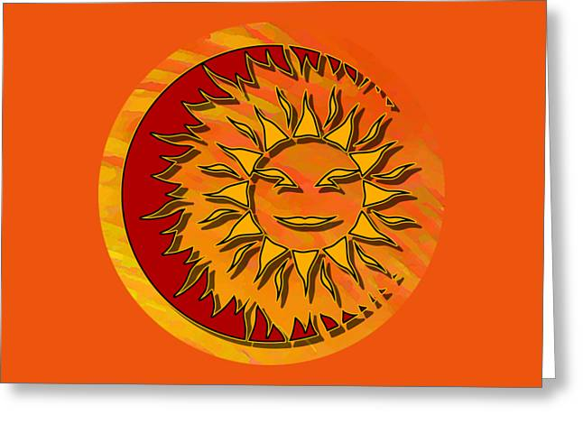 Sun Eclipsing The Moon Greeting Card