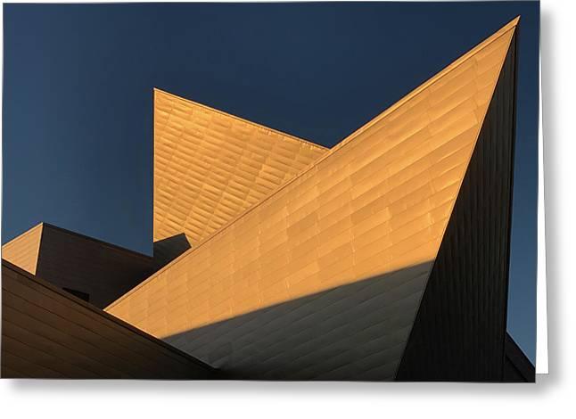 Sun Setting On Denver Art Museum Greeting Card