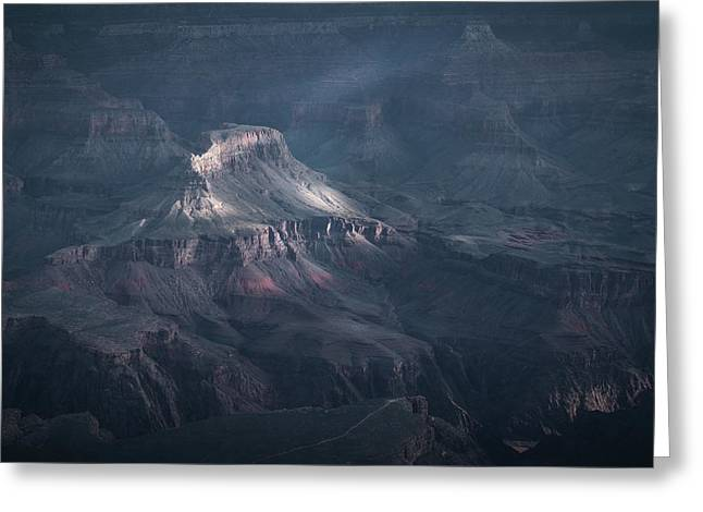 Sunbeamed, Grand Canyon, Az Greeting Card