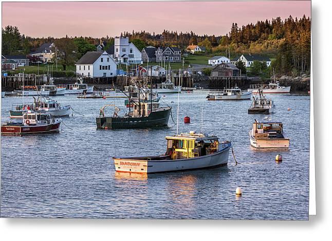 Sundown At Cutler, Maine Greeting Card
