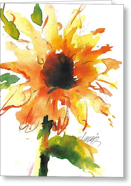 Sunflower Too - A Study Greeting Card