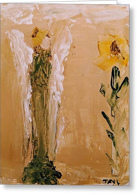 Sunflower Angel Greeting Card