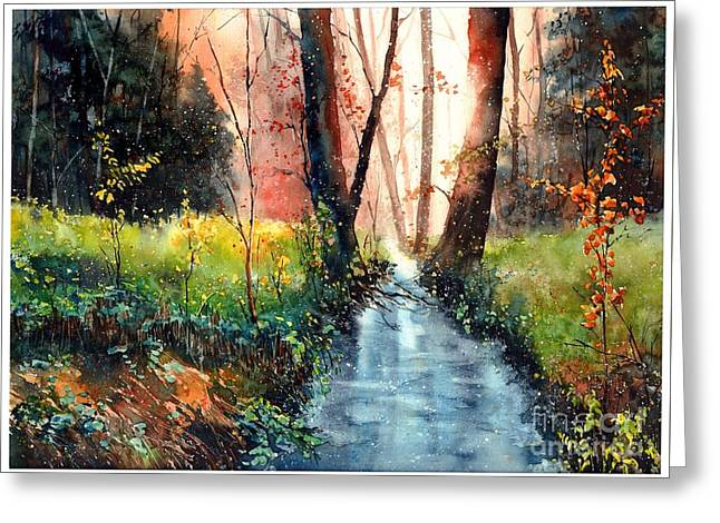 Sunlight Colorful Path Greeting Card