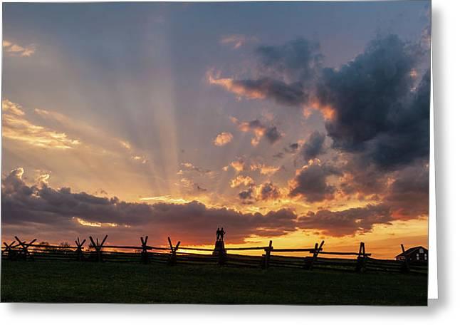 Sunrays At Sunset Greeting Card