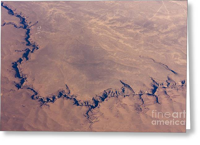 Sunrise Aerial Photo Of The Canyons In Greeting Card