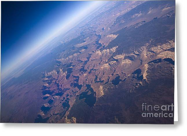 Sunrise Aerial View Of The Grand Canyon Greeting Card