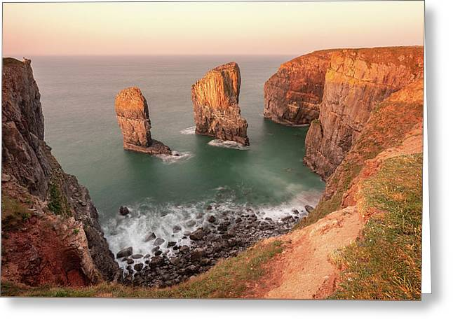 Greeting Card featuring the photograph Sunrise At Stack Rocks by Elliott Coleman