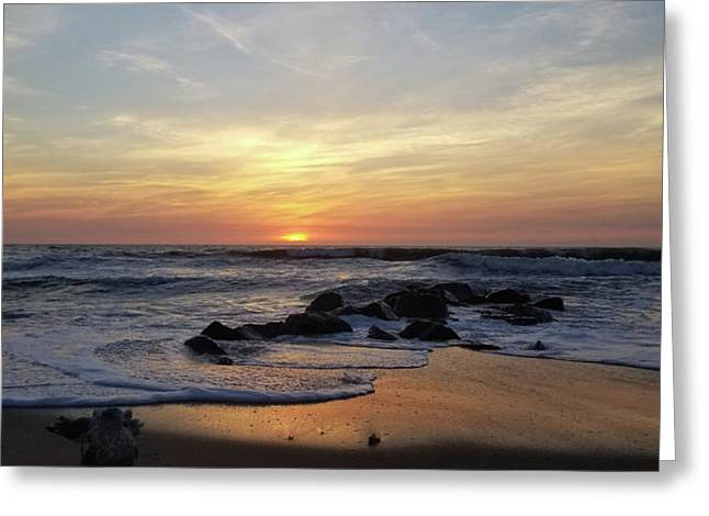Sunrise At The 15th St Jetty Greeting Card