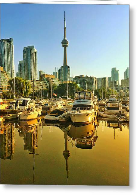 Sunrise At The Harbour Greeting Card