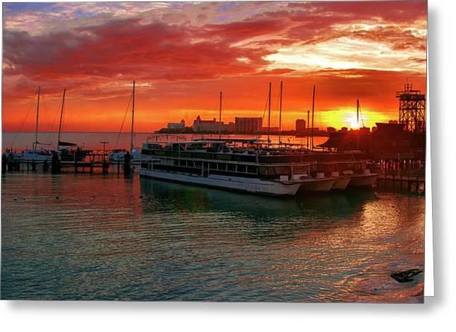 Sunrise In Cancun Greeting Card