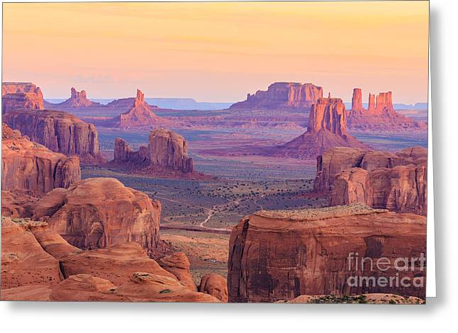 Sunrise In Hunts Mesa, Monument Valley Greeting Card