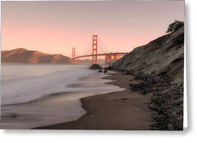Sunrise In San Fransisco- Greeting Card