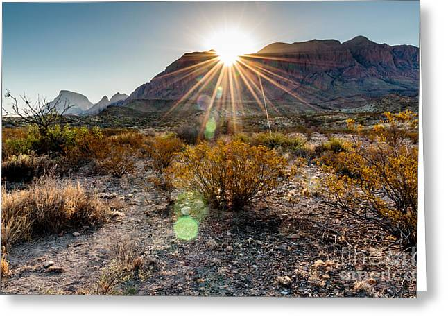 Sunrise In The Chisos Mountains Big Greeting Card