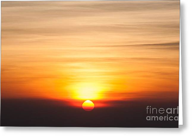 Sunrise In The Morning, Sunrise With Greeting Card