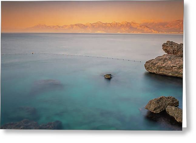 Greeting Card featuring the photograph Sunrise In Turkey by Francisco Gomez