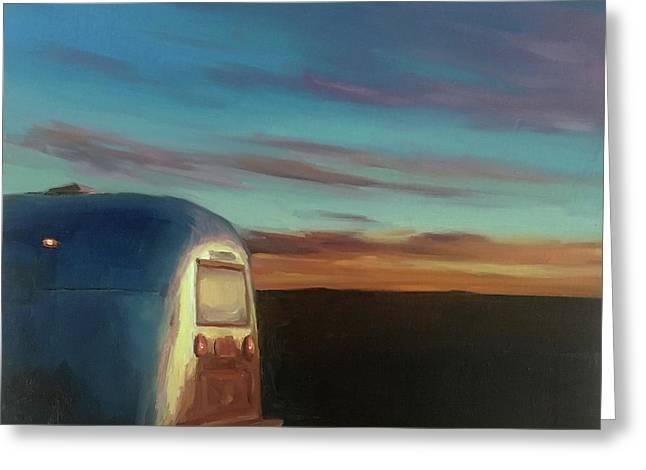 Sunrise Near Amarillo Greeting Card