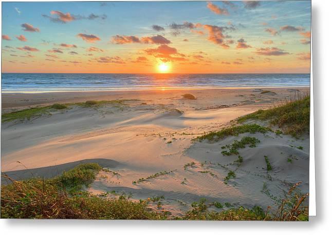 Sunrise On South Padre Island, Texas 5 Greeting Card