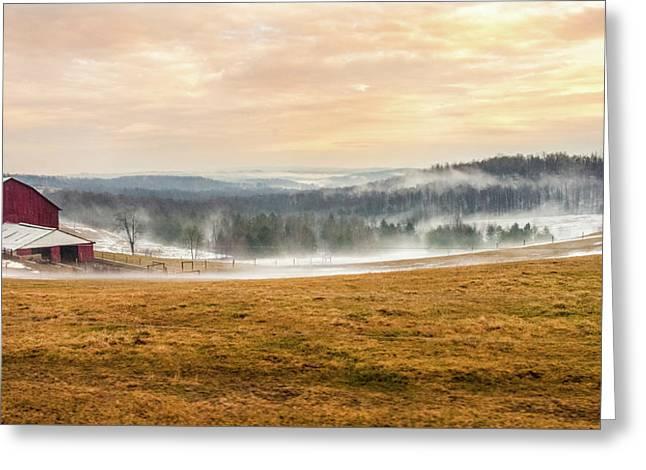 Sunrise On The Farm Greeting Card