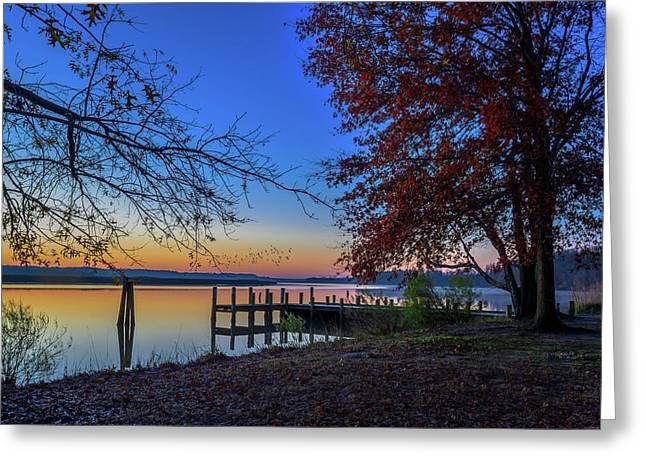 Sunrise On The Patuxent Greeting Card