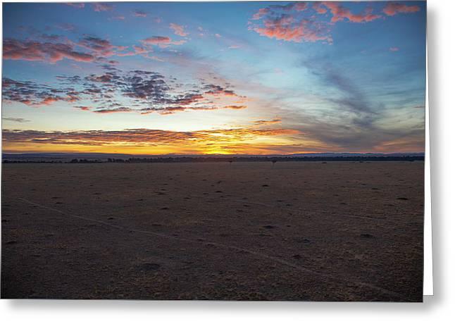 Sunrise Over The Mara Greeting Card