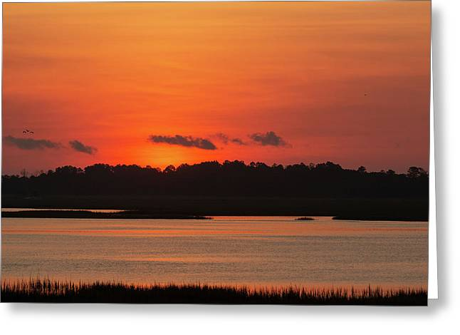 Sunrise Over Drunken Jack Island Greeting Card
