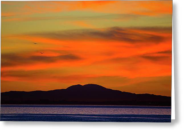 Sunrise Over Santa Monica Bay Greeting Card