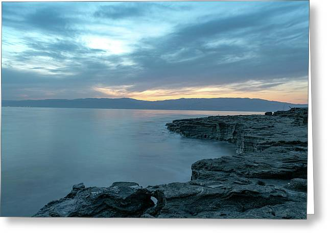 Before Dawn At The Dead Sea Greeting Card