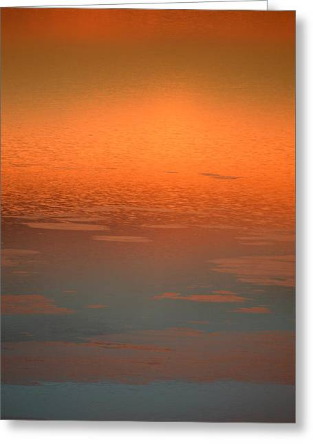 Greeting Card featuring the photograph Sunrise Reflections by SimplyCMB