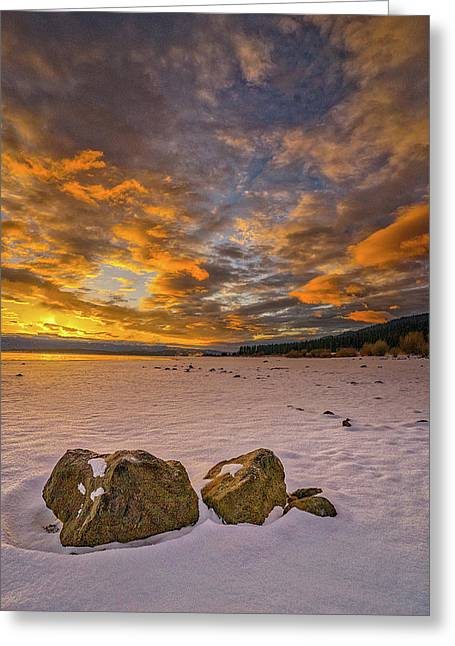 Sunrise Rocks Greeting Card