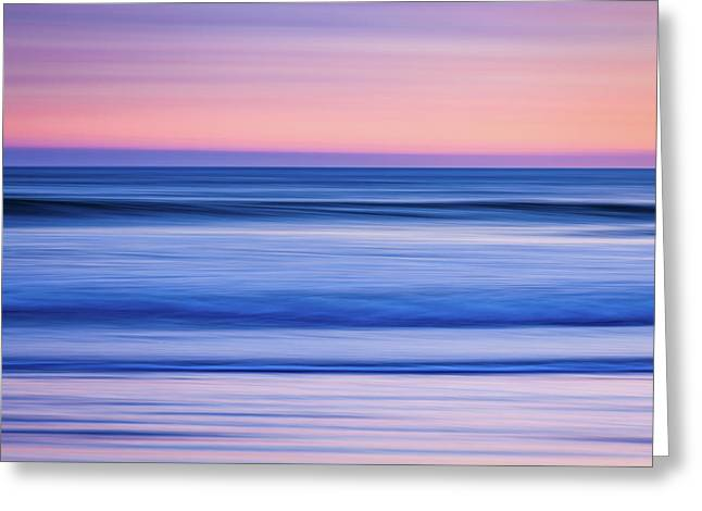 Sunset Abstract Greeting Card