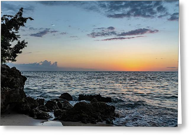 Sunset Afterglow In Negril Jamaica Greeting Card