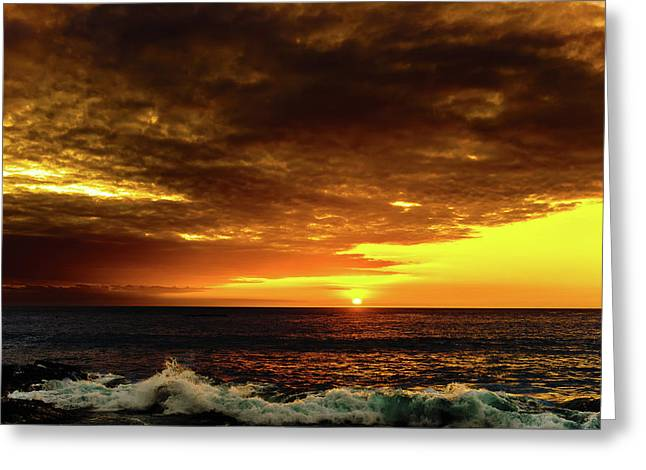 Sunset And Surf Greeting Card