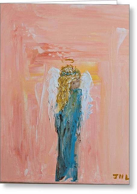 Sunset Angel Greeting Card