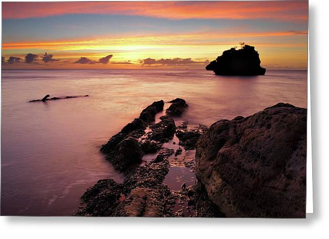 Sunset At Columbus Bay Greeting Card