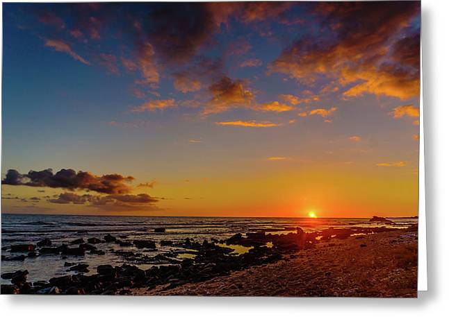 Sunset At Kailua Beach Greeting Card