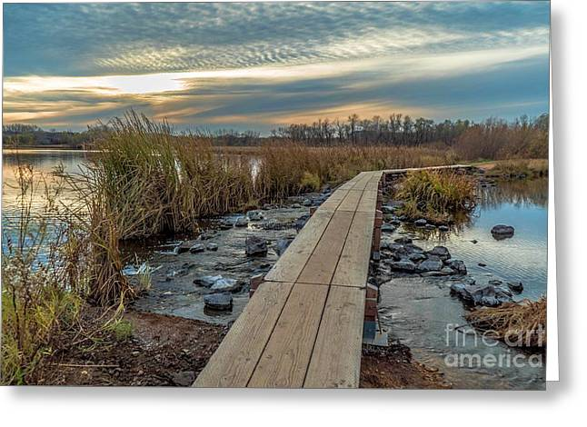 Sunset At Purgatory Creek Greeting Card