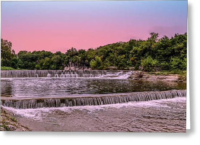 Sunset At The Falls Greeting Card