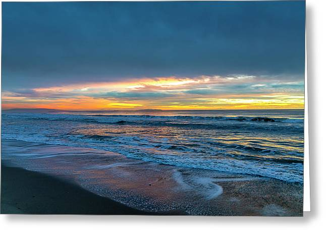 Sunset Fire Over Catalina Island 2 Greeting Card