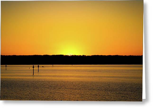 Sunset From National Harbor Greeting Card