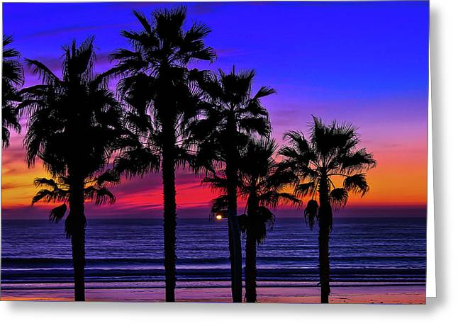 Greeting Card featuring the photograph Sunset From The Ocean Park Inn by Robert Bellomy