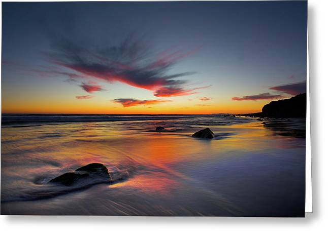 Sunset In Malibu Greeting Card