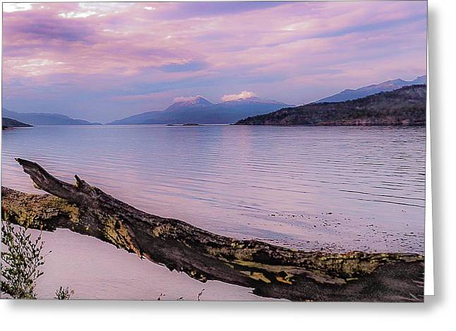 Sunset In Ushuaia Greeting Card