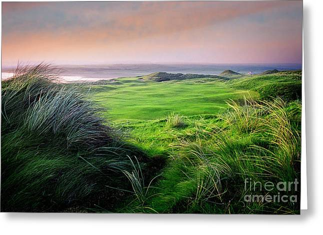Greeting Card featuring the photograph Sunset - Lahinch by Scott Kemper